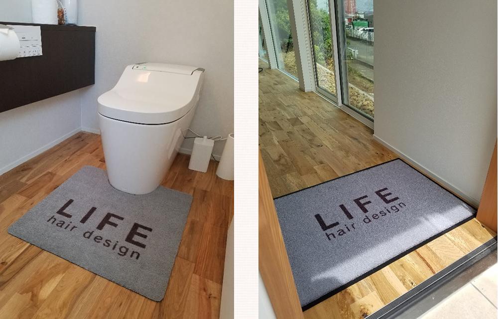 トイレマットと玄関マットの画像