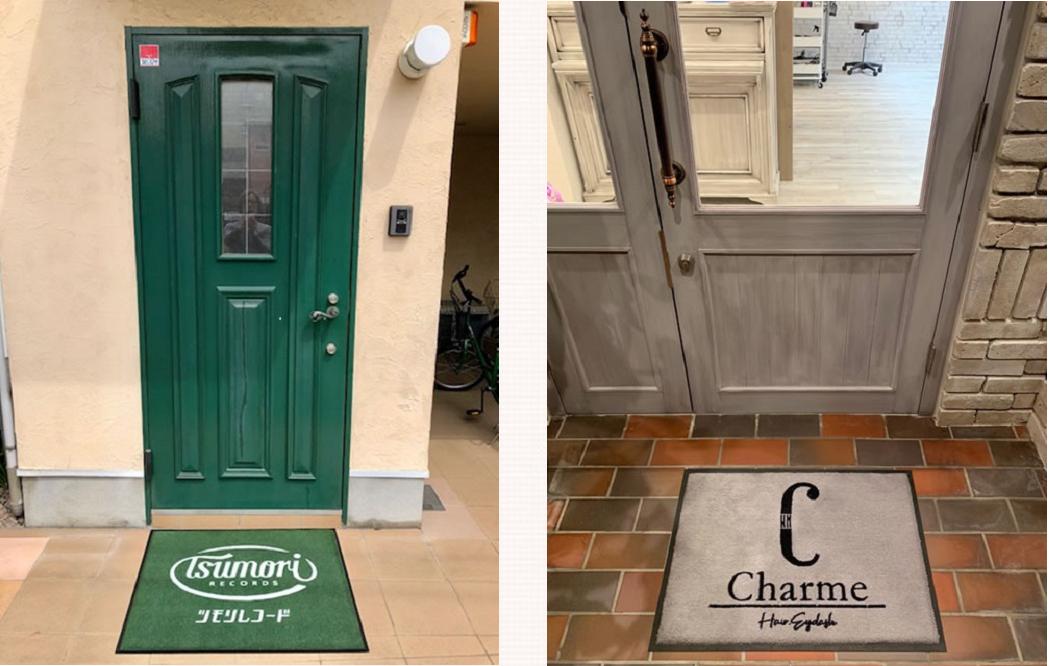 ドアの色に合わせた設置例